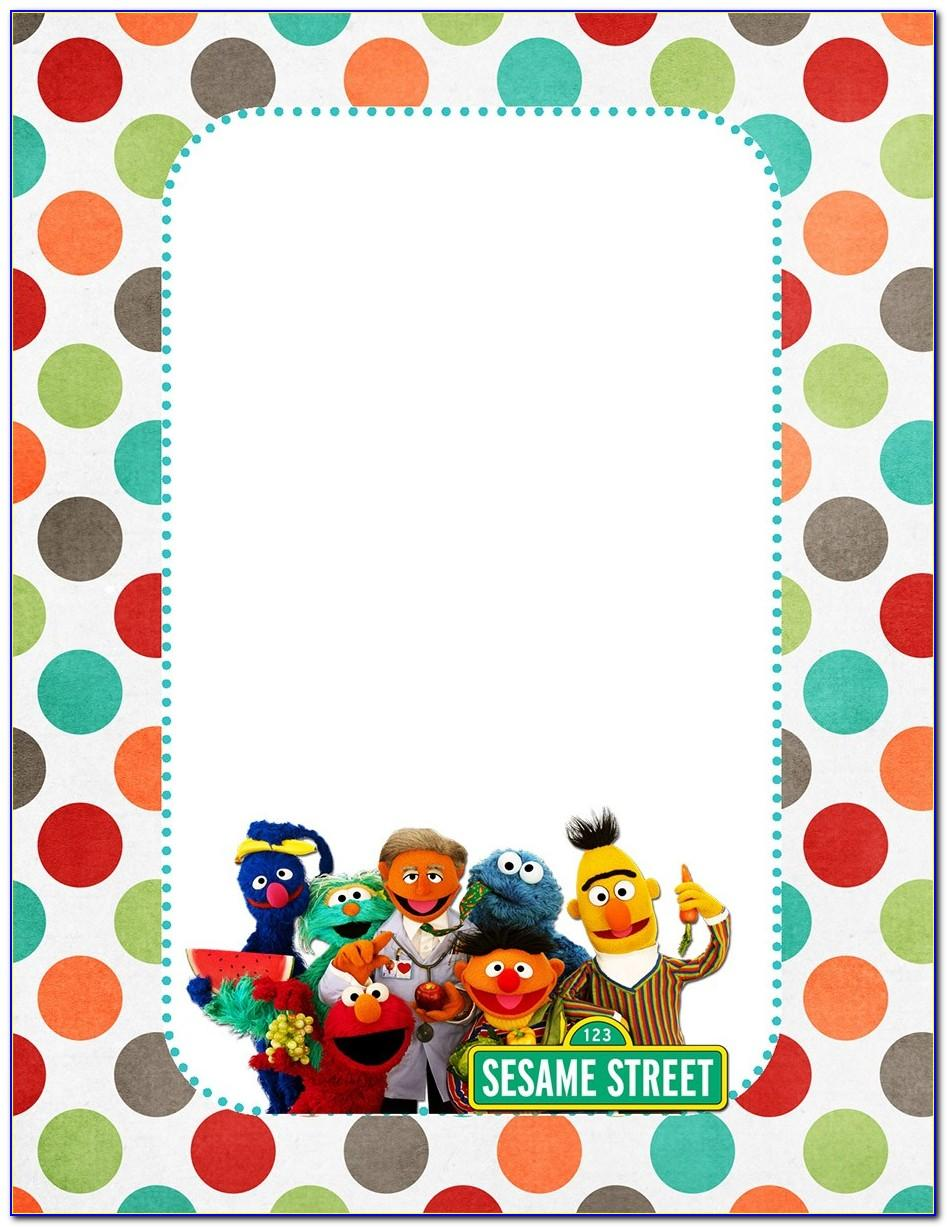 Free Sesame Street Party Invitations Template