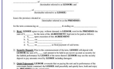 Free Short Term Tenancy Agreement Form
