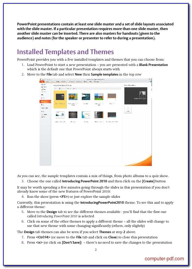 Free Slide Templates For Powerpoint 2010