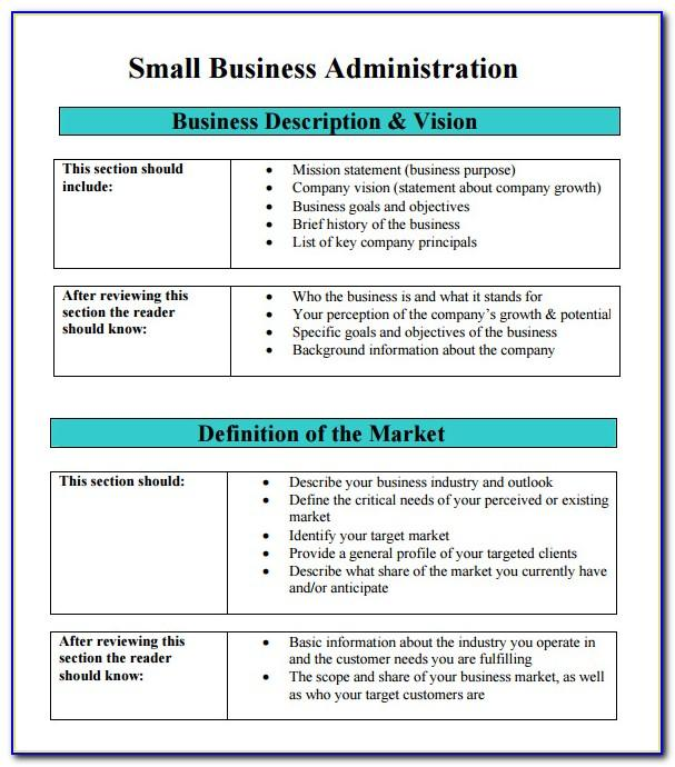 Free Small Business Plan Examples