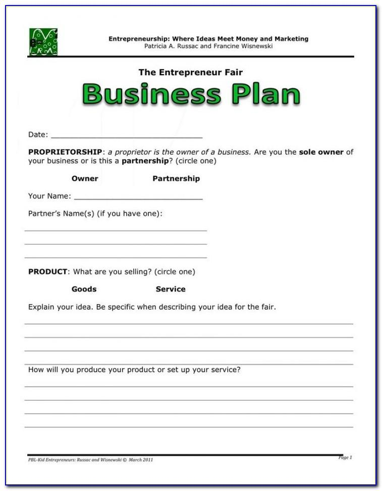 Free Small Business Plan Template Pdf