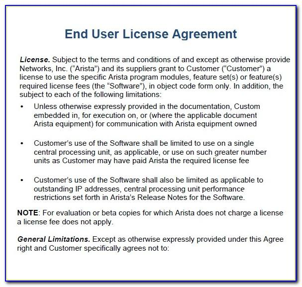 Free Software Licence Agreement Template Uk