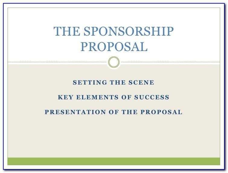 Free Sponsorship Proposal Template For Events