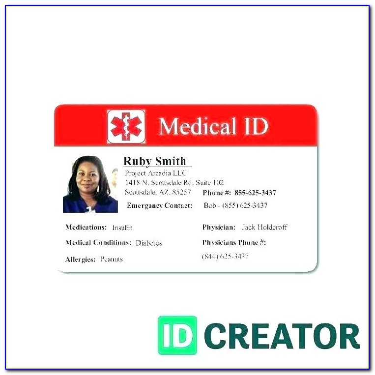 Free Staff Id Badge Template