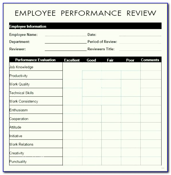 Free Staff Performance Appraisal Template