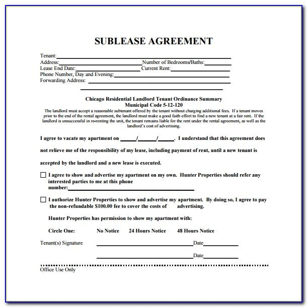 Free Subletting Contract Template Uk