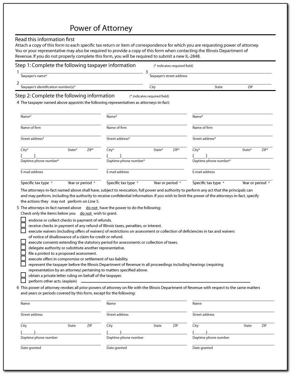 General Power Of Attorney Form Free Download