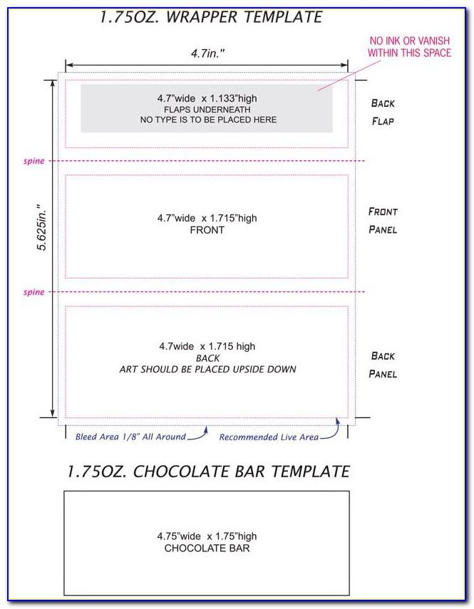 Hershey Miniature Candy Bar Wrapper Template