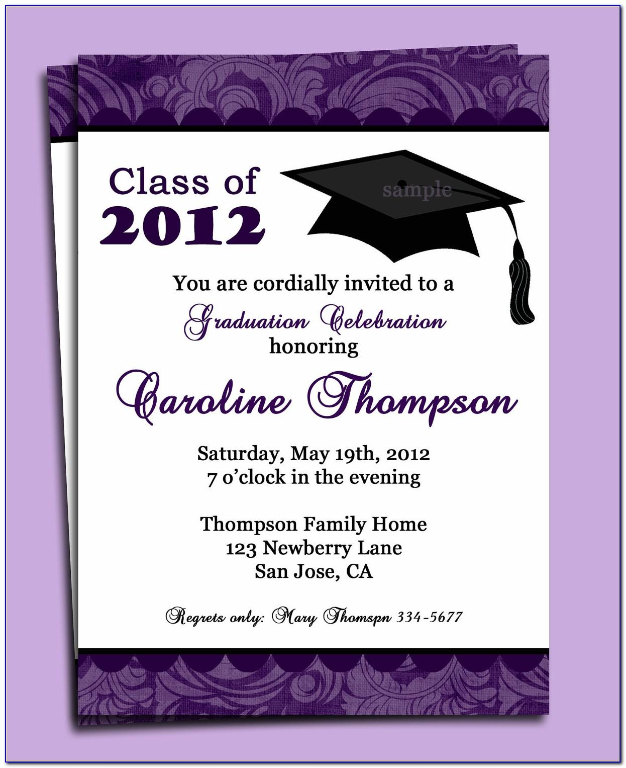 High School Graduation Announcement Templates Free