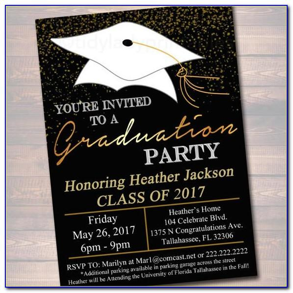 High School Graduation Announcements 2018 Templates Free