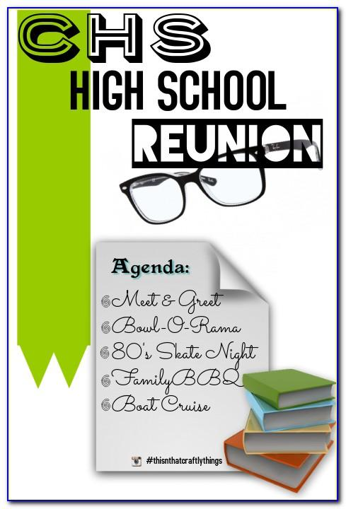 High School Reunion Flyer Template Free