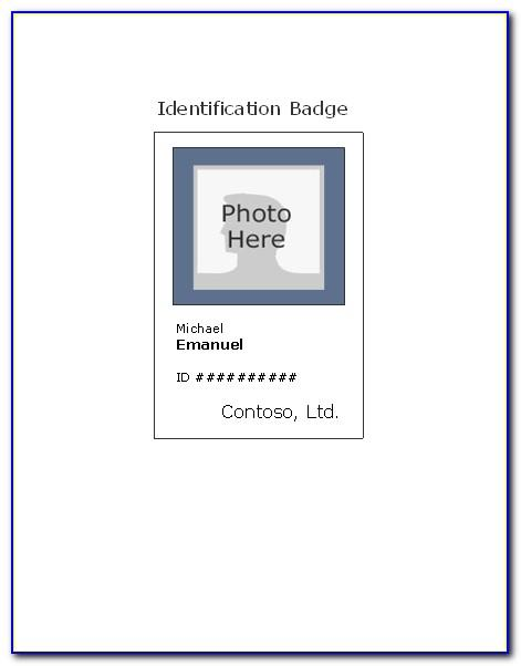 Id Badge Template Free Download