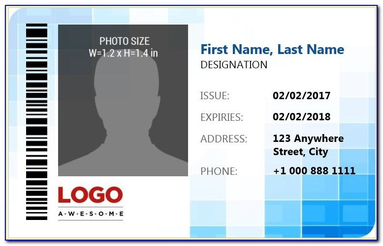 Id Badge Template Free Word
