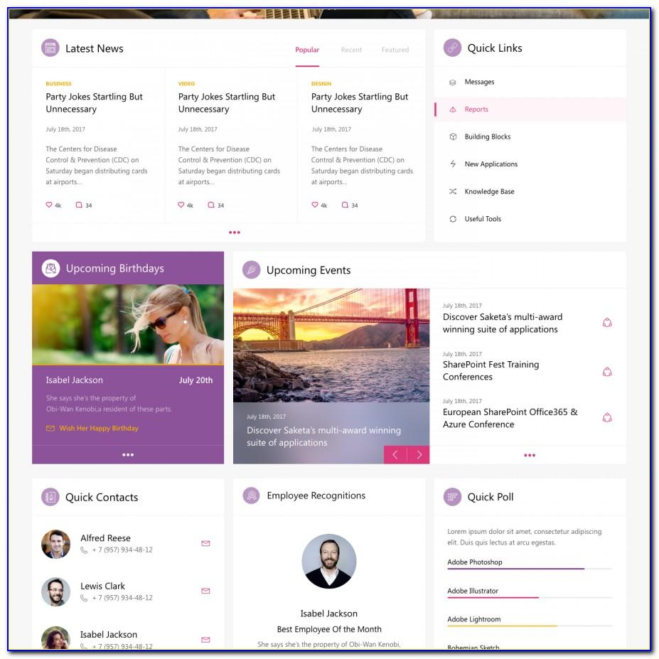 Intranet Site Template Sharepoint 2013