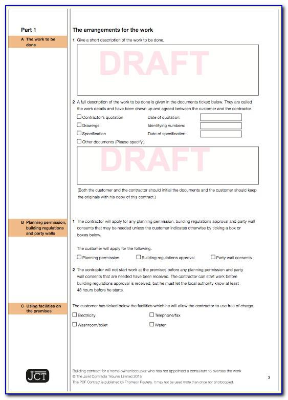 Jct Standard Building Contract Template