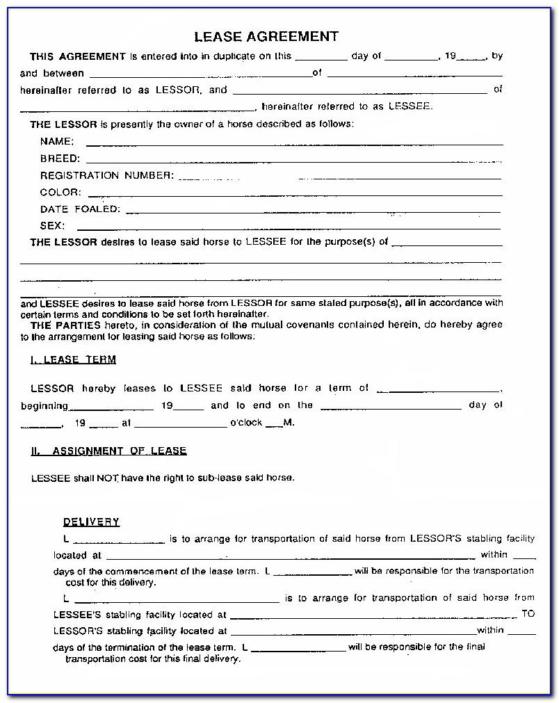 Lease Contract Sample Word