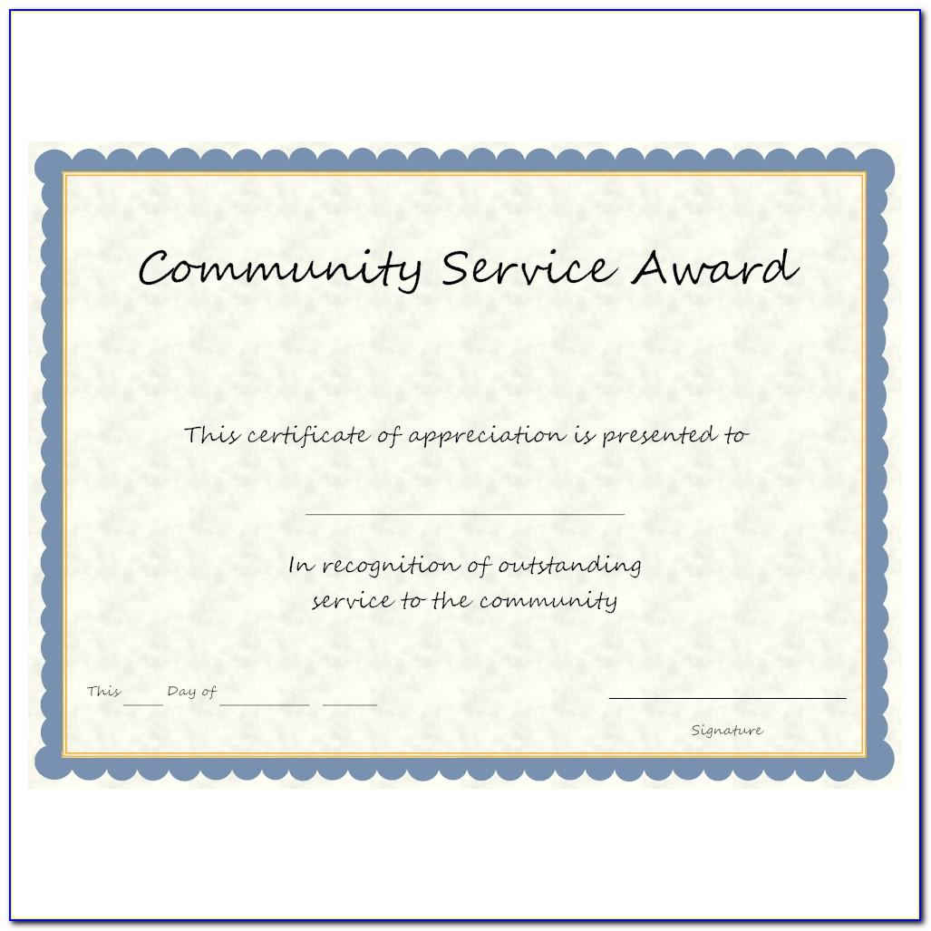 Long Service Award Certificate Sample