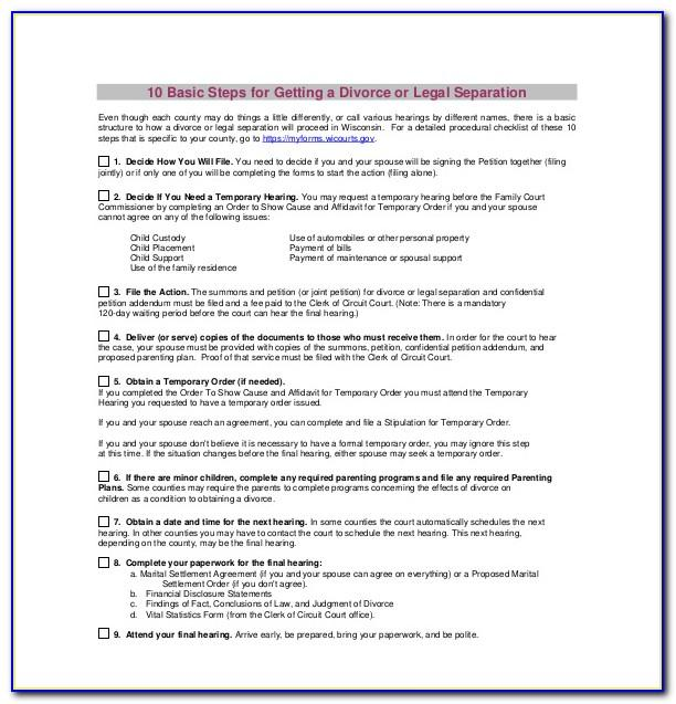 Marriage Separation Agreement Template Uk