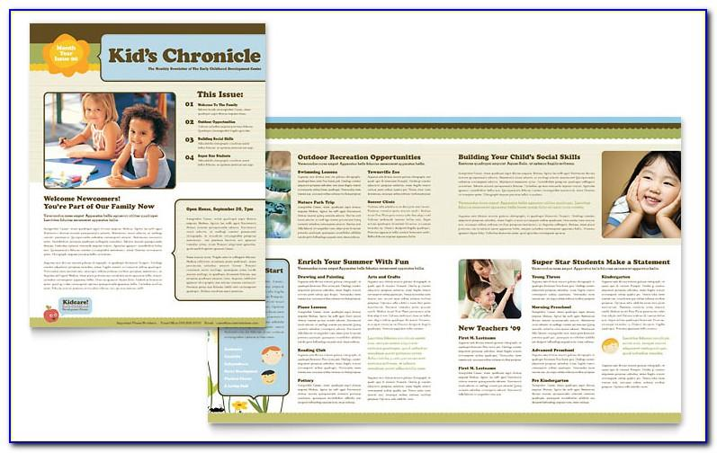 Microsoft Publisher School Newsletter Templates