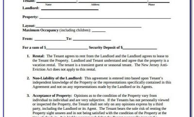 Monthly Lease Agreement Template Free