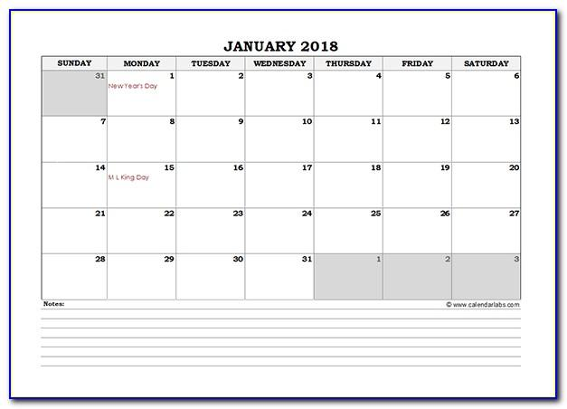 Monthly Schedule Template Excel Download