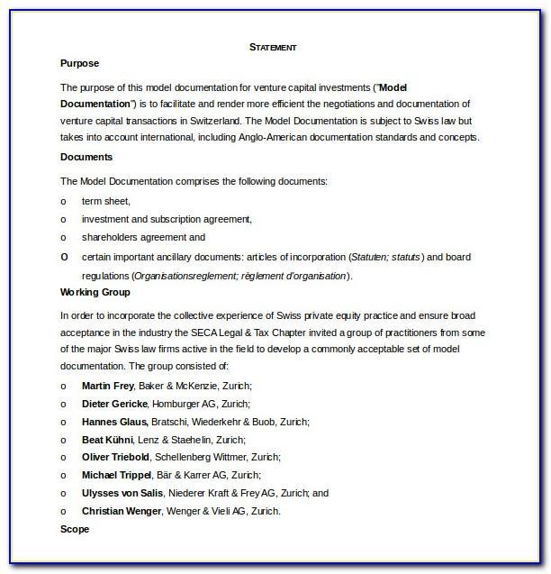 Nominee Shareholder Agreement Template Singapore