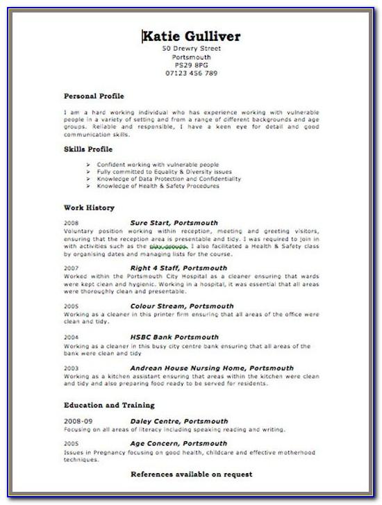 Nurse Practitioner Student Resume Template