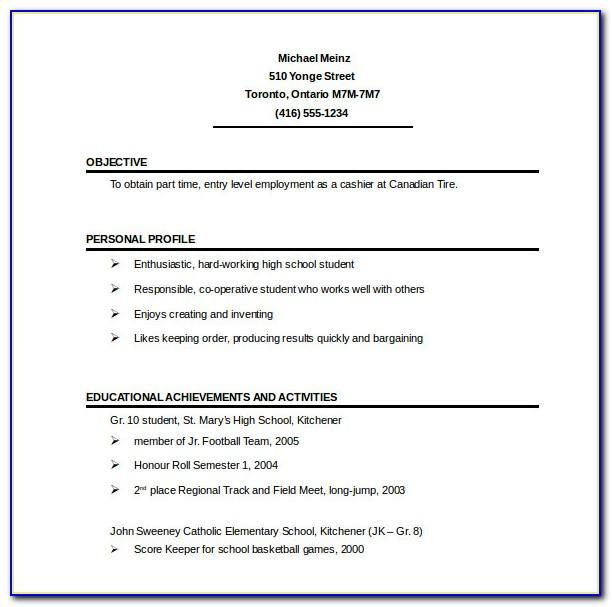 One Page Resume Templates Free Download