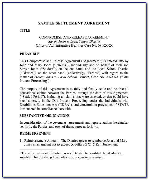 Paye Settlement Agreement Application Letter Template