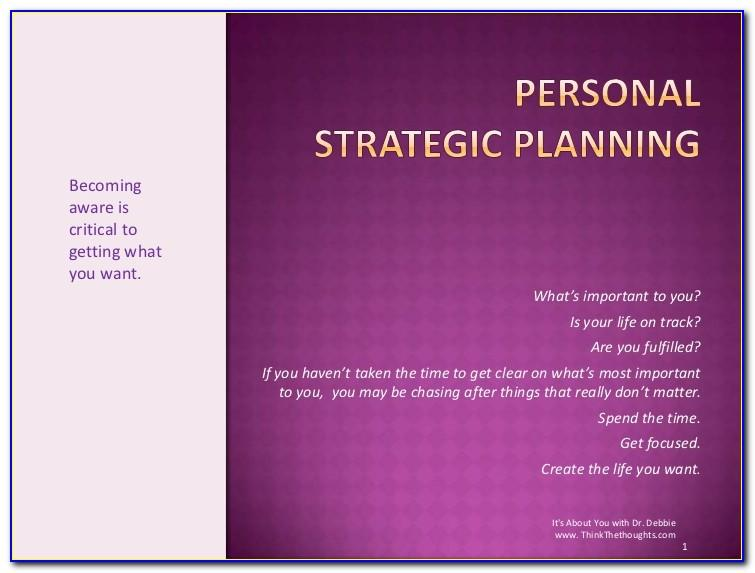 Personal Strategic Life Plan Template