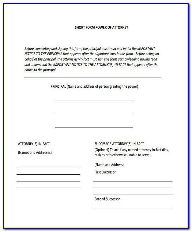 Power Of Attorney Form Download India