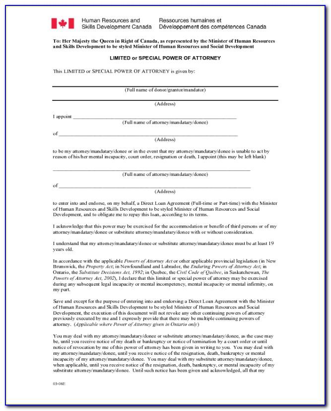 Printable Power Of Attorney Form Florida