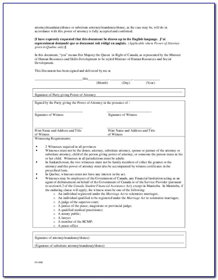 Printable Power Of Attorney Forms Ohio
