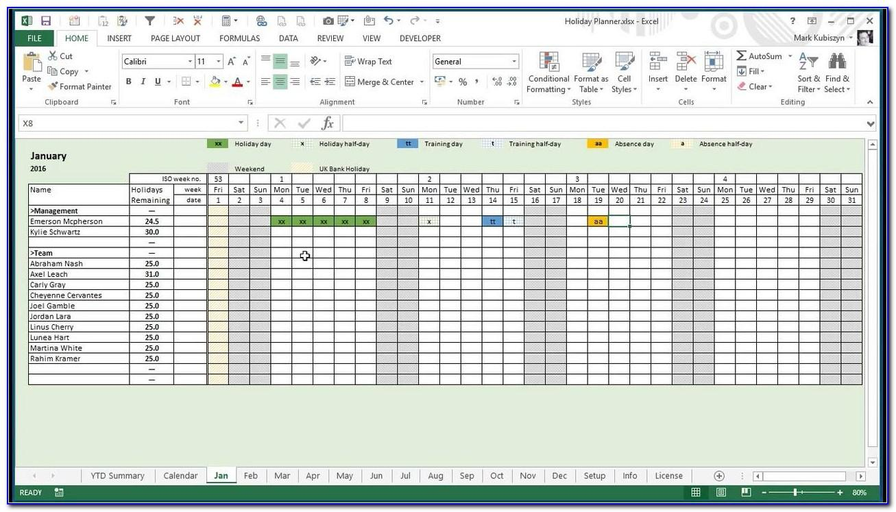 Production Planning Schedule Template Excel