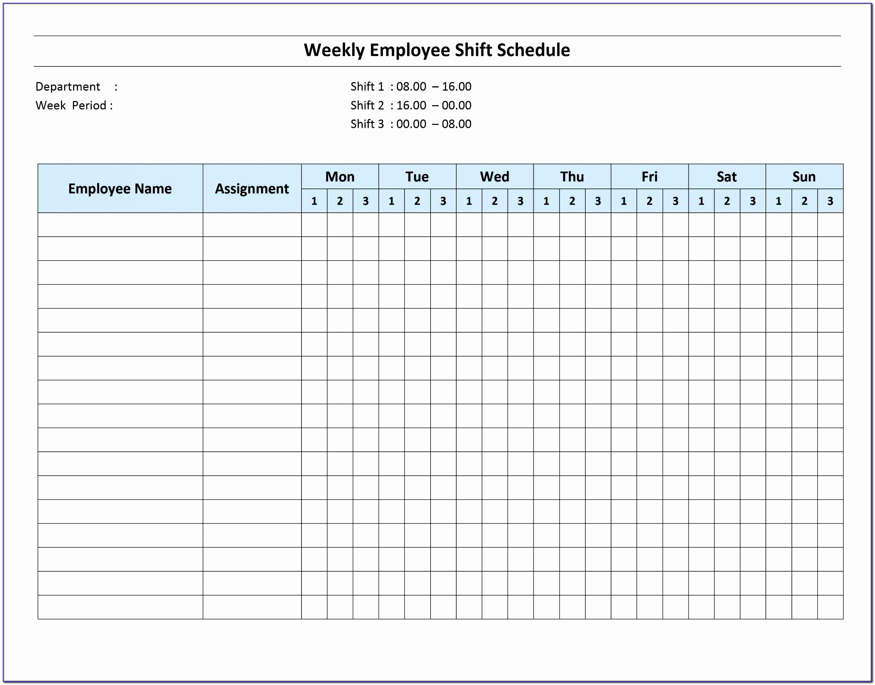 Project Schedule Template Excel Free Download
