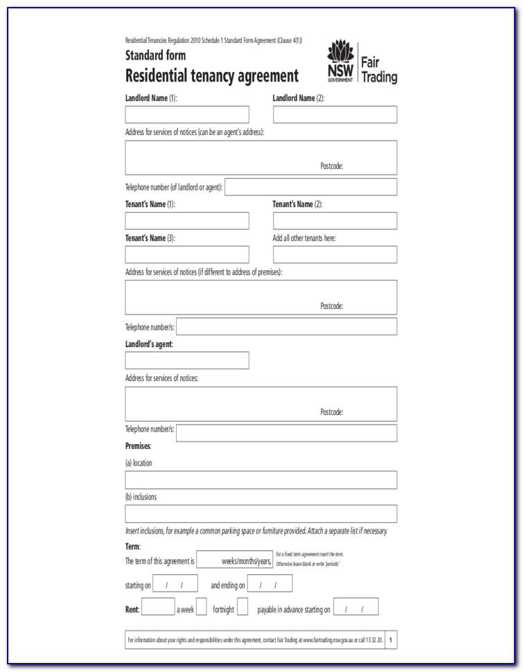 Residential Tenancy Agreement Standard Form Ontario