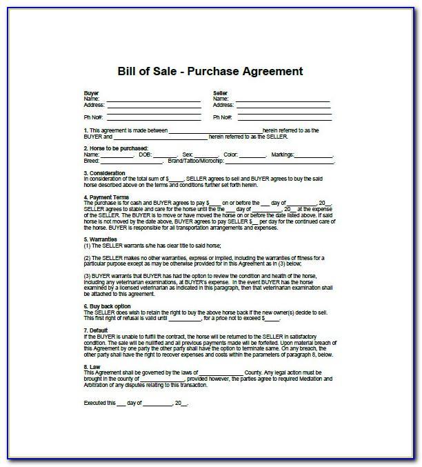 Sale Car Agreement Sample
