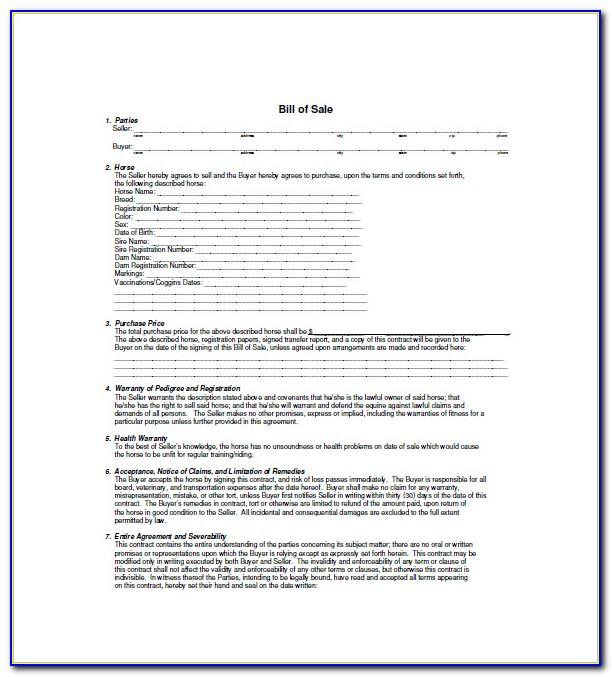 Sample Contract For Selling A Car With Payments