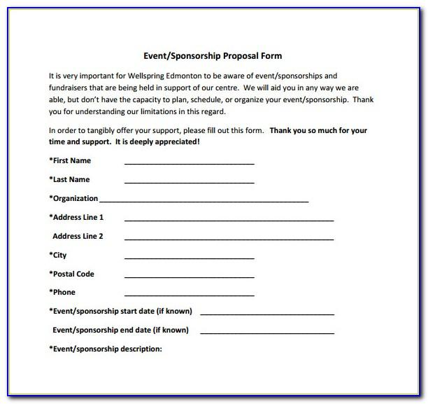 Sample Event Sponsorship Proposal Template