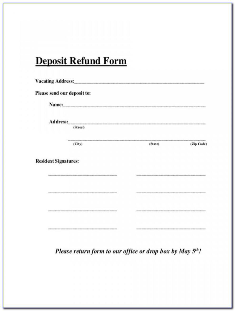 Sample Letter Requesting Security Deposit Refund