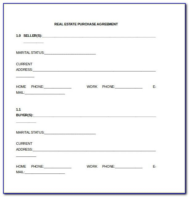 Sample Purchase Agreement Template Word