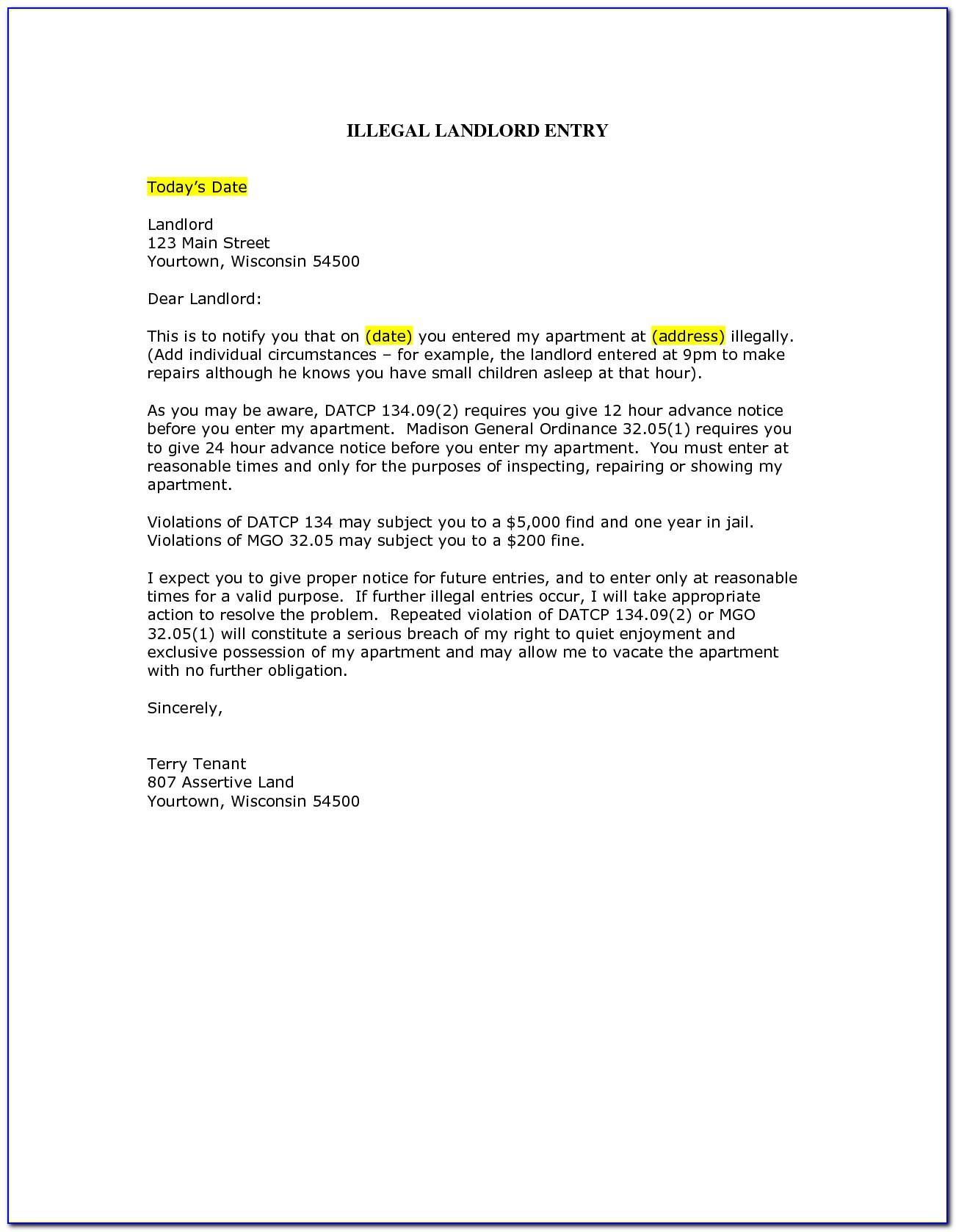 Sample Security Deposit Return Letter California