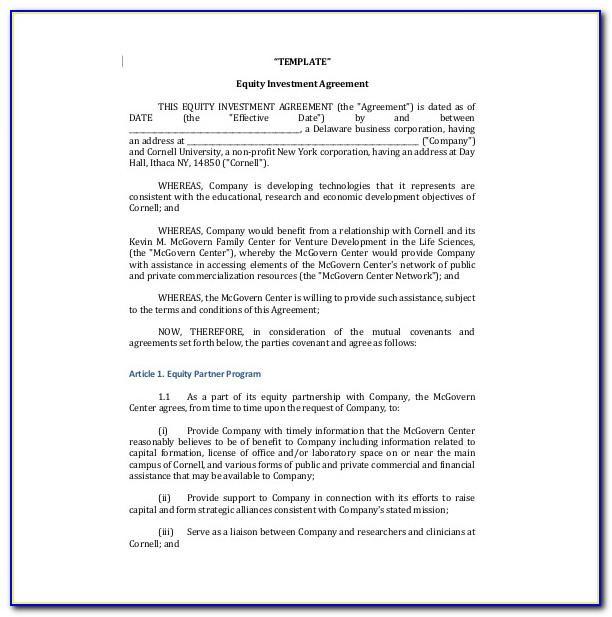 Sample Shareholder Agreement Template