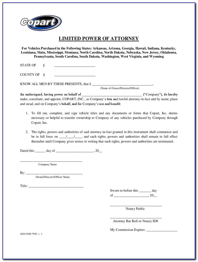 Sars Special Power Of Attorney Form South Africa