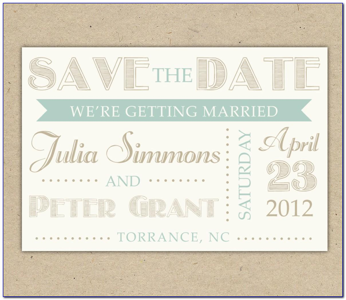 Save The Date Template Wedding Chicks