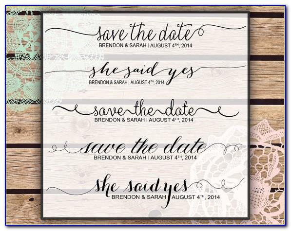 Save The Date Wedding Email Template Free