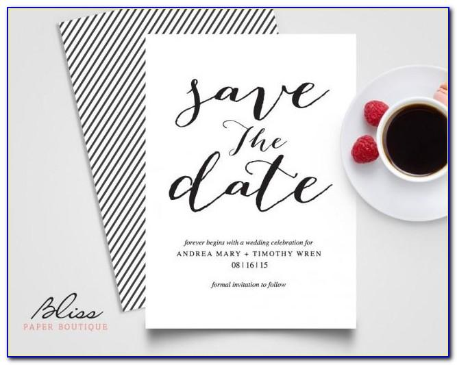 Save The Date Wedding Invitation Templates
