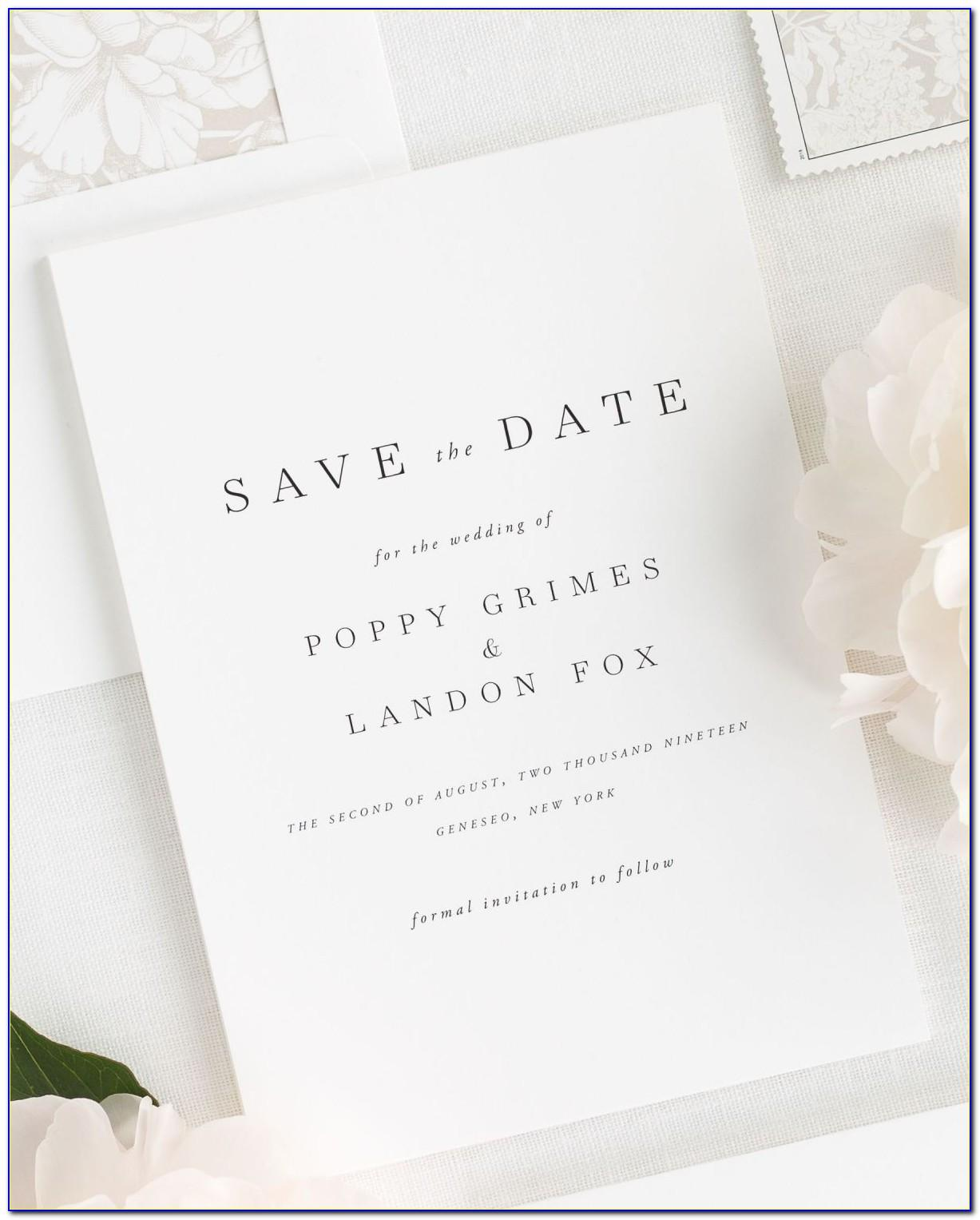 Save The Date Wedding Template Online