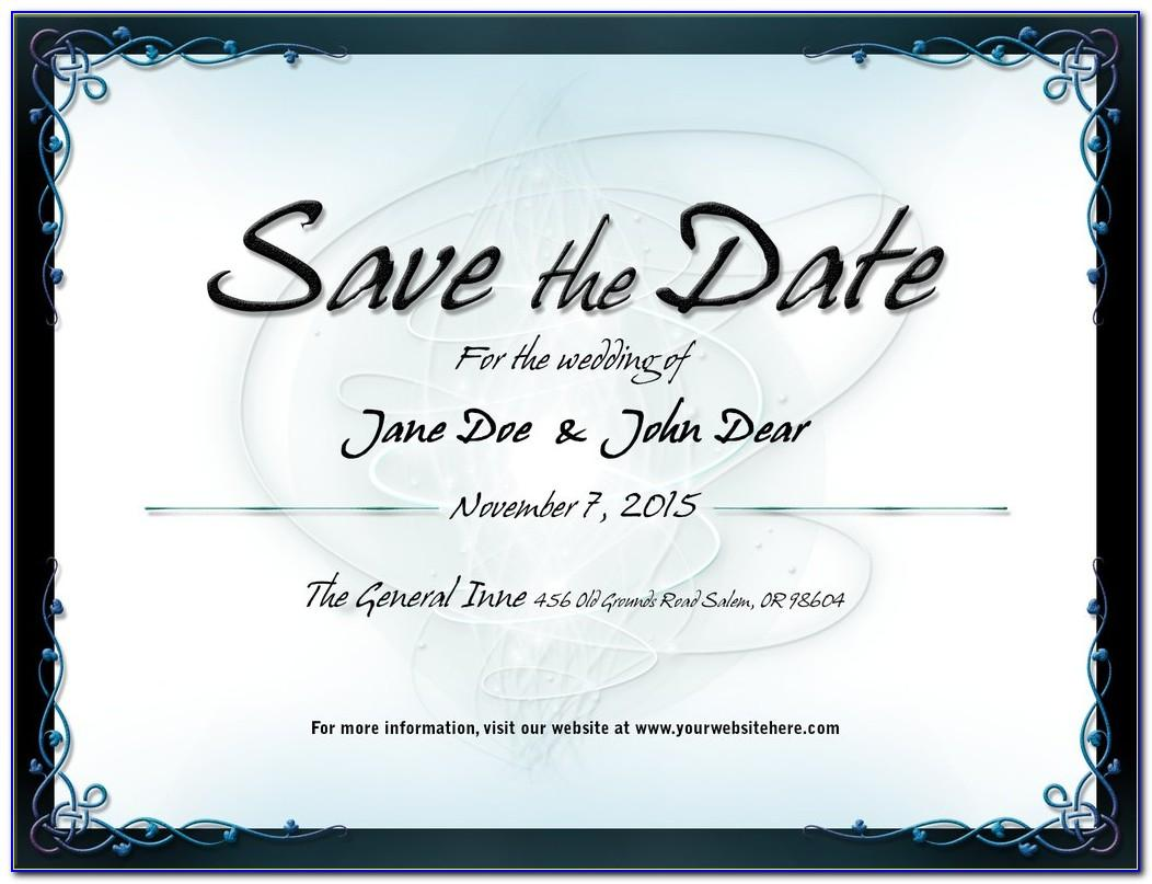 Save The Date Wedding Template Psd