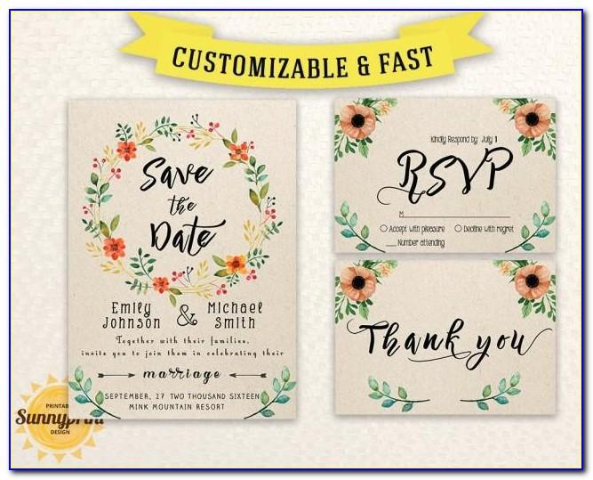 Save The Date Wedding Template With Photo